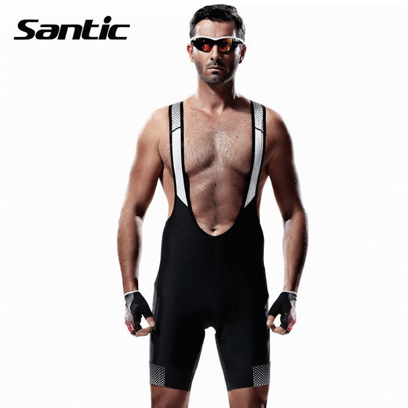 Santic Cycling Shorts Men Bib Shorts 4D Padded Quick Dry Breathable Mesh Mountain Road Bicycle Bike Shorts Ciclismo Original santic cycling shorts men bib shorts 4d padded quick dry breathable mesh mountain road bicycle bike shorts ciclismo original