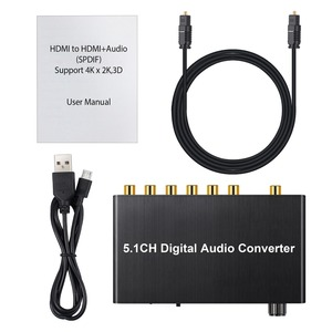 Image 5 - Prozor 192 كيلو هرتز 5.1CH DAC محول التحكم في مستوى الصوت الرقمية إلى التناظرية و 3.5 مللي متر جاك محول صوت محول ل AC 3