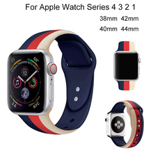 Sport Silicone Strap For Apple Watch 4 40mm 44mm Loop Bracelet Band For iwatch 3 2 1 38mm 42mm Soft Colorful Watchband Accessory sport silicone watch band for apple watch 4 3 2 1 loop bracelet strap for iwatch 44mm 40mm 38mm 42mm soft watchband accessories