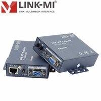 LINK-MI 100 m 확장 vga  키보드 및 마우스 vga kvm 익스텐더 송신기 및 수신기 usb 입력 2 웨이 vga 스플리터 송신기 100 m
