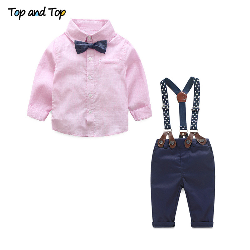 Toddler Baby Boys Clothes Suspender Tie T-Shirt Top and Shorts with Pockets Formal Outfits Set