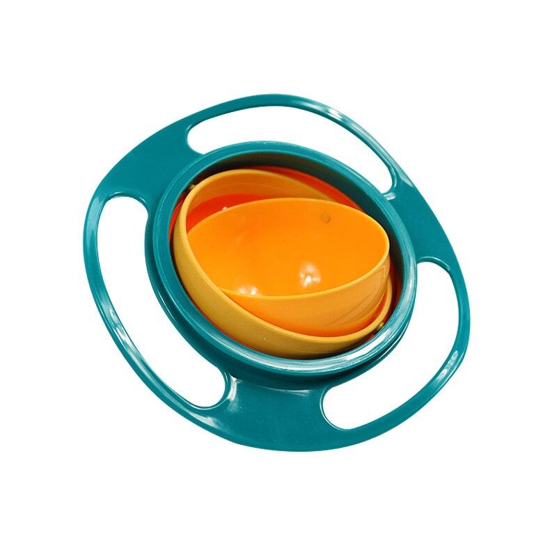 Универсальная миска для кормления детей с гироскопом, практичный дизайн, Детская вращающаяся миска для баланса, новинка, пищевая посуда, вращающаяся на 360 градусов, непроливающаяся миска - Цвет: Зеленый