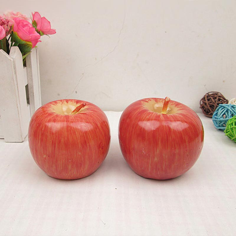 HOT Home Red Apple Shape Fruit Scented Candle Gift Wedding Decoration Valentine's Day Christmas Candle Lamp  NDS66