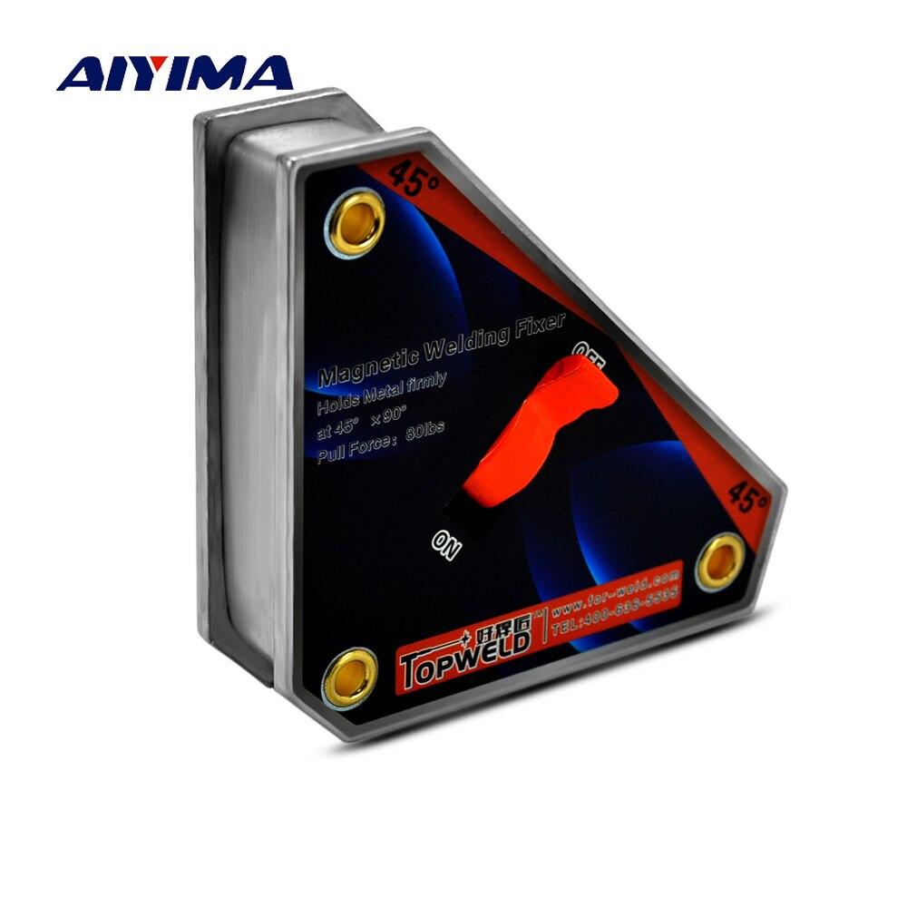 1 pc multi-angle aimants de soudeur avec interrupteur Marche/Arrêt Néodyme fort Pince Magnétique fixateur titulaire De positionneur CLK-45 36 kg