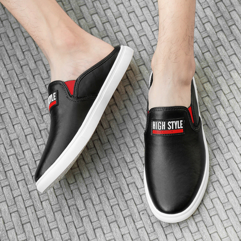 Half slipper head fashion peas shoes lazy tide shoes a pedal British sandals male in Men 39 s Casual Shoes from Shoes