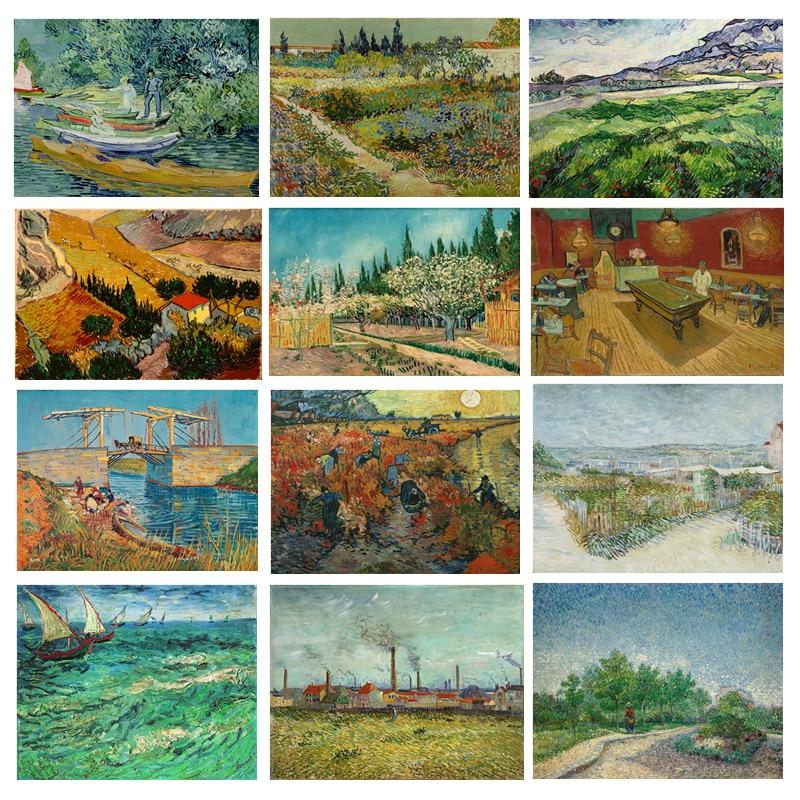 Van Gogh Piktura Canvas Printime Peisazhi Impressionist Wall Art Art - Dekor në shtëpi