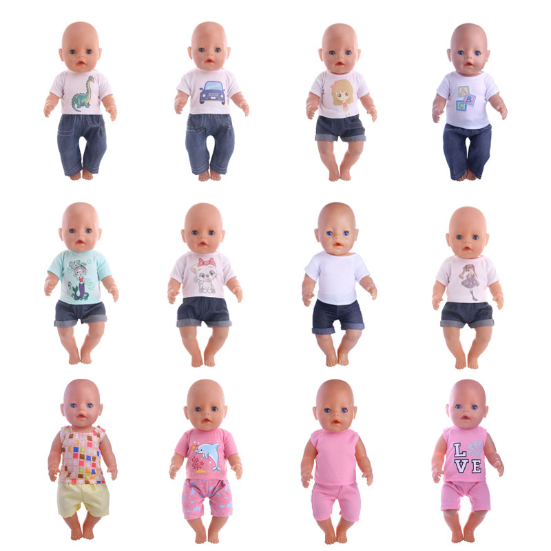 1 Pcs Doll Clothes Fits 18 Inch Baby Born Zapf Doll Handmade Daily casual suit toy gift
