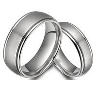 Classic Europe Western Design Aircraft Grade Titanium Wedding Bands Set Promise Rings For 6MM 8MM Mens