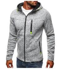 MarKyi good quality fleece mens hoodies fitness 2018 autumn zipper men hoodie sweatshirt