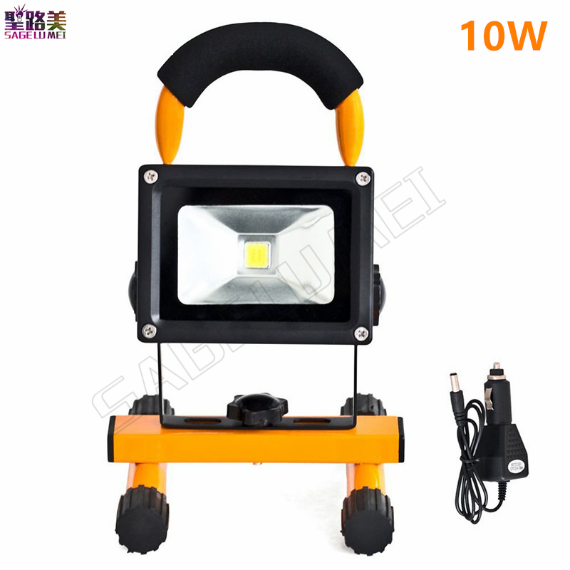 10w 20W Led Rechargeable Emergency Light Portable Spotlight Floodlight Outdoor  Lighting Battery Camping Spot Lamp IP65