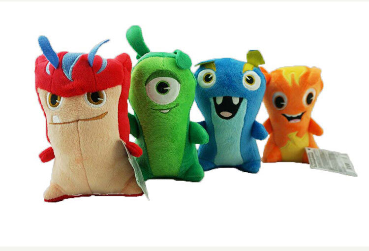 8pcs Set 15cm Movie Anime Slugterra Toys Cute Soft Elves Stuffed Toy