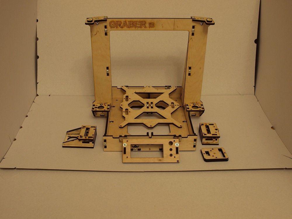 3D-Printer-Reprap-Mendel-Graber-I3-Frame-Laser-Cut-6mm-PlyWood-Screws-kit-set-6mm-thickness