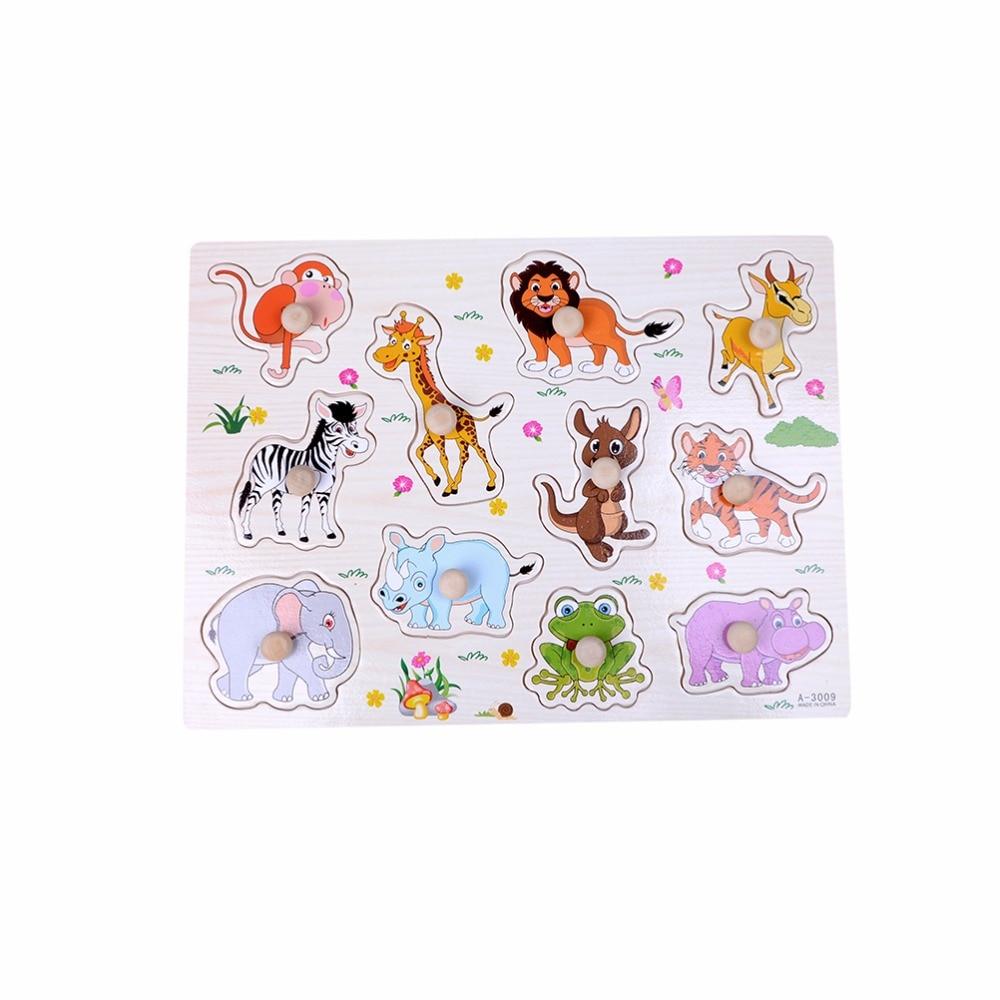1 шт. 30x22.5x1.5 см 3D Пазлы Игрушечные лошадки для детей Симпатичные зоопарк животных Обучающие Игрушечные лошадки детский деревянный игрушки г...