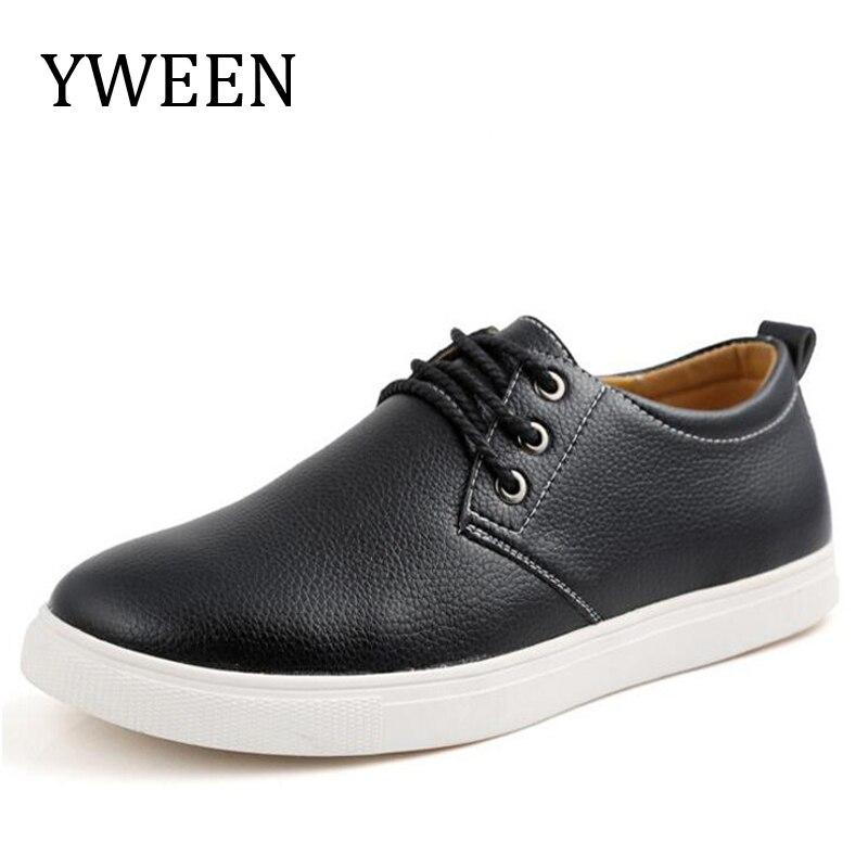 YWEEN Hombres Zapatos Casual Otoño Top Fashion Style Serraje Hombre Ocio Plana Z