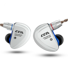 NEW CCA C16 8BA In Ear Earphone Metal HIFI Headset Earbud Detachable with separate 2PIN Cable