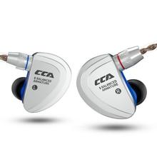 NEW CCA C16 8BA In Ear Earphone Metal Earphone HIFI Earphone Headset Earbud Detachable Earphone with separate 2PIN Cable недорого