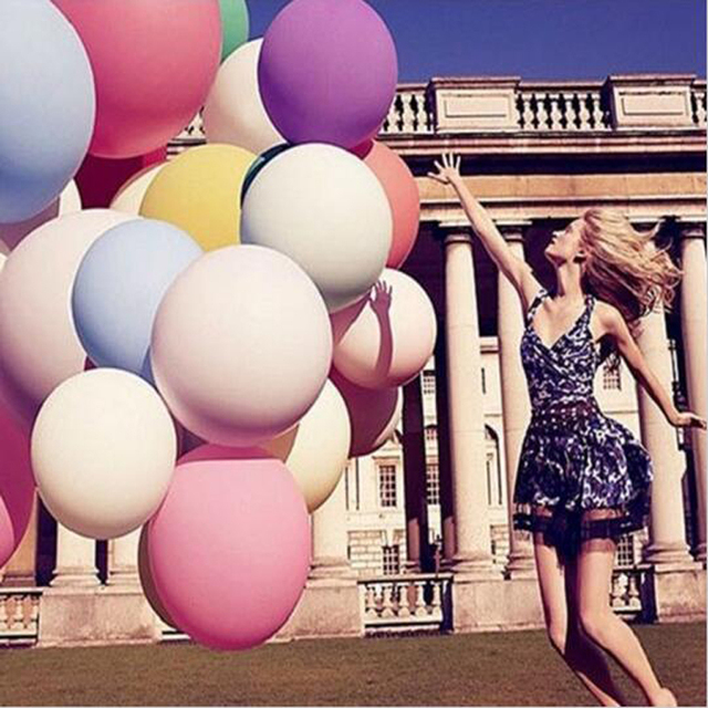 Round & Oval Latex Balloons 36 Inchs Wedding Decoration Helium Big Large Giant Ballons Birthday Party Decora Inflatable Air Ball