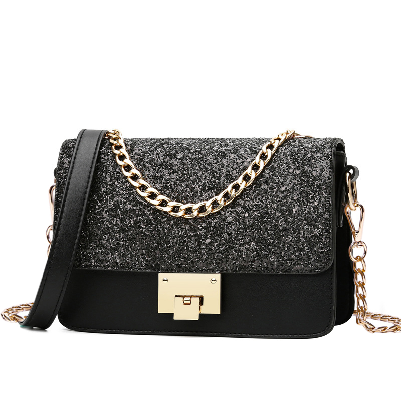 Luxruy Women Messenger Bag Sequined Design Women Small Flap Bag Chain Strap Female Daily Shopping Shoulder Bag