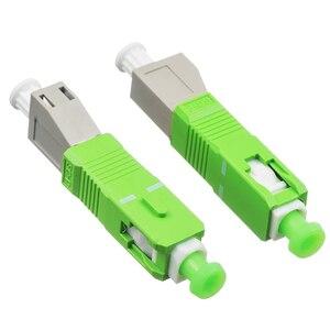 Image 3 - SC/APC stecker auf LC weibliche MM modus Fiber optic koppler flansch stecker adapter