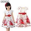Дети платья для девочек одежда 2016 летний стиль цветочный принт девушка принцесса платье baby дети одежда повседневная сарафан 2-10Y