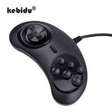 Kebidu 2019 Новый USB геймпад игровой контроллер 6 кнопок для USB SEGA держатель джойстика для ПК MAC Mega Drive геймпады