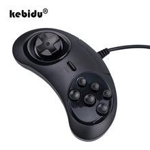 Kebidu 2019 nowy gamepad na USB kontroler do gier 6 przycisków do SEGA USB joystick do gier uchwyt na PC MAC Mega Drive gamepady