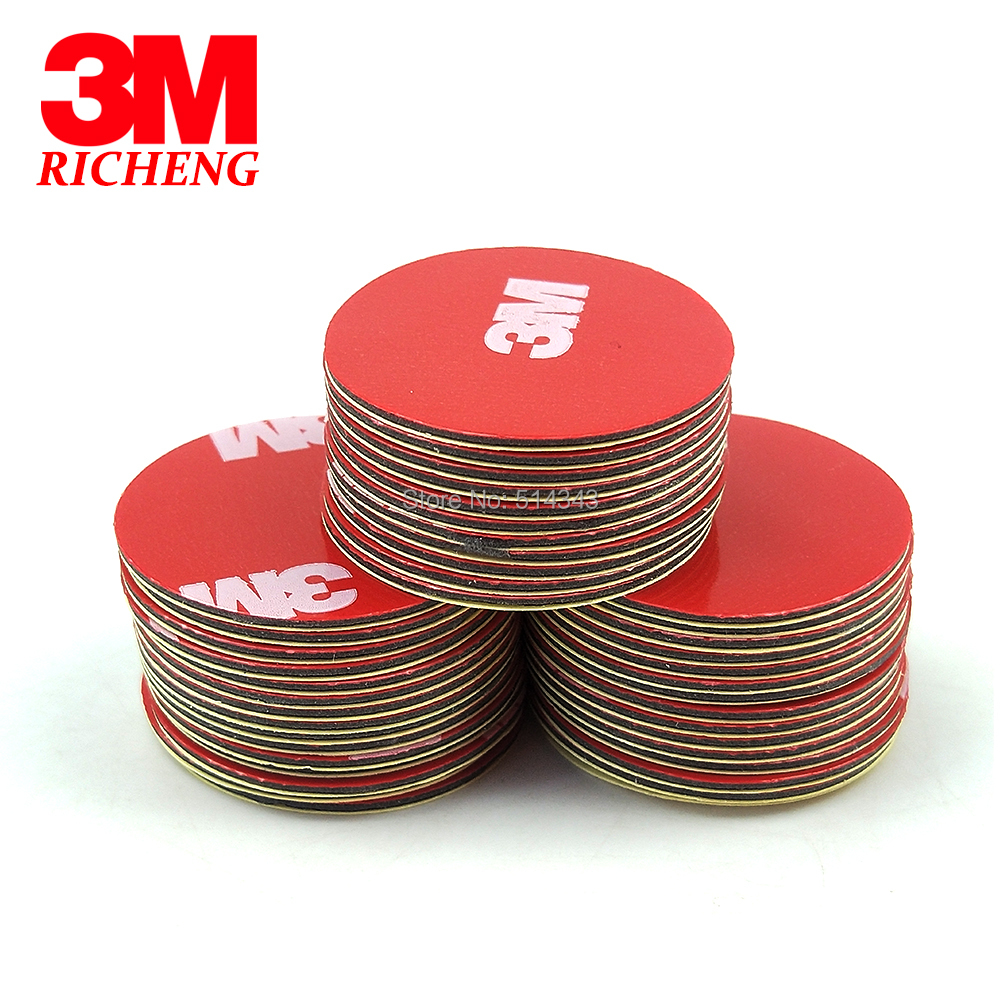20pcs Circle 25MM, 3M 4229P Acrylic Foam Tape, Double Sided Adhesive For Car, Auto Body Side Door Edge Moldings