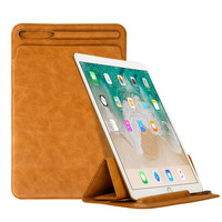 Eagwell Luxury Tri fold Sleeve Bag Case For iPad Pro 12.9 2017 Ultra thin PU Leather Sleeve Case Cover with Pencil Slot Holder