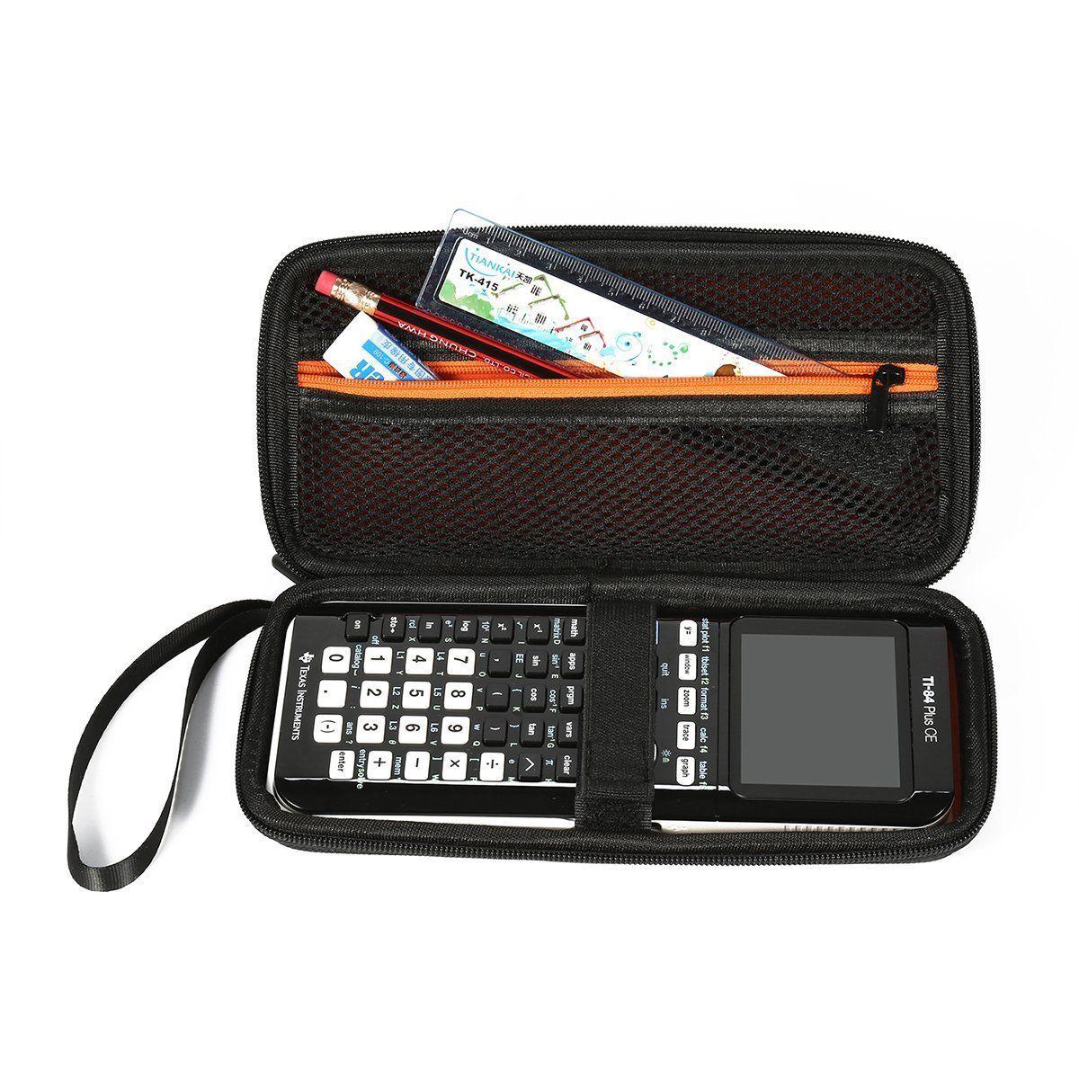 TI 84 /Plus CE Graphing Calculator Texas Instruments Scientific Hrad Case Black