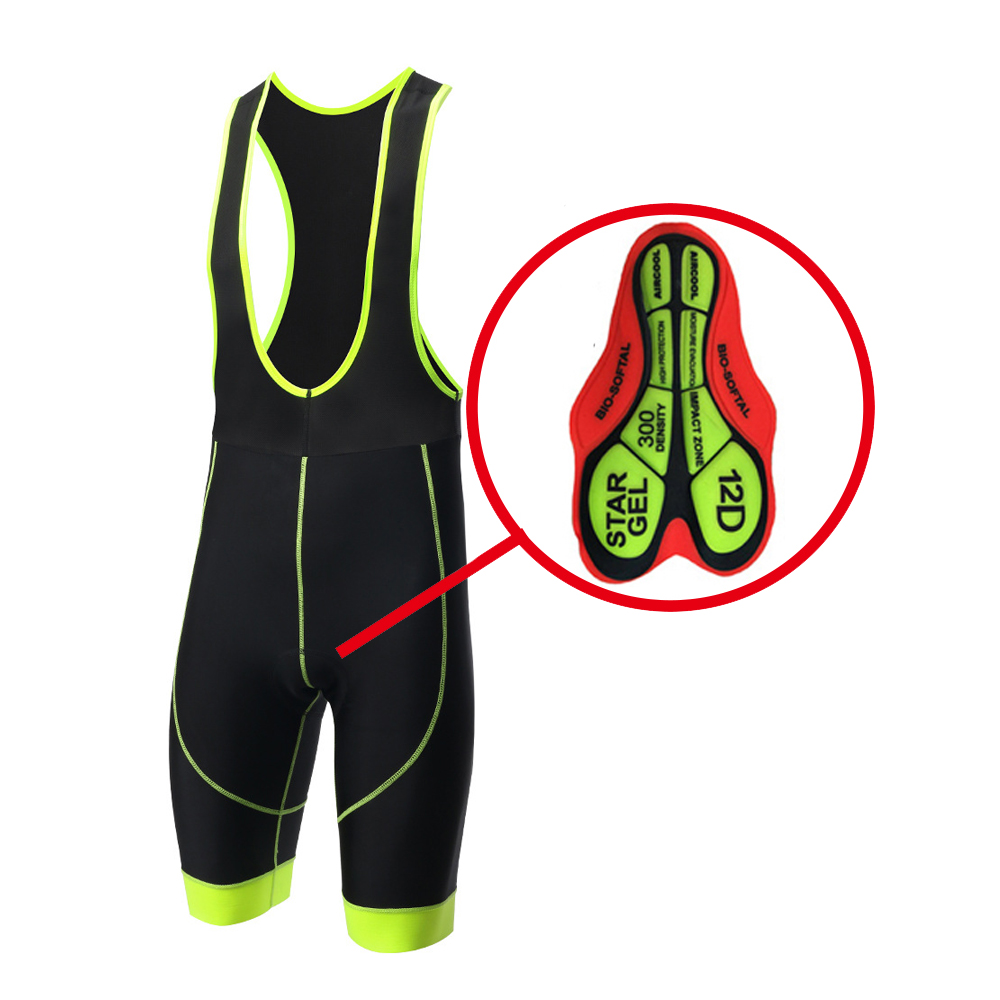 2018 Hot Bicycle <font><b>Bib</b></font> <font><b>Short</b></font> Men Outdoor Wear Bike Bicycle Cycling 12D Padded Riding <font><b>Bib</b></font> <font><b>Shorts</b></font> S-4XL 6Colors Cycling <font><b>Bib</b></font> <font><b>Shorts</b></font> image