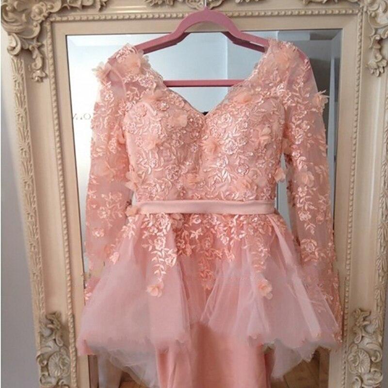 Wedding Party Dress Weddings & Events 2019 Custom Size Celebrity Dress Long Sleeve V-neck Myriam Fares Friend Tube Knee Length Bridesmaid Dresses