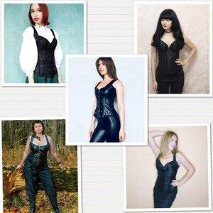 Image 4 - Bayan Moly Steampunk Korse Seksi Gotik Büstiyer Overbust Zayıflama Elbise Burlesque En 6XL Artı Boyutu Kumaş Karın Kontrol Kılıf