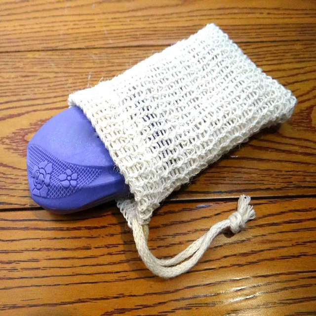 10pcs Practical Sisal Soap Saver Pouches Durable Bag Bath