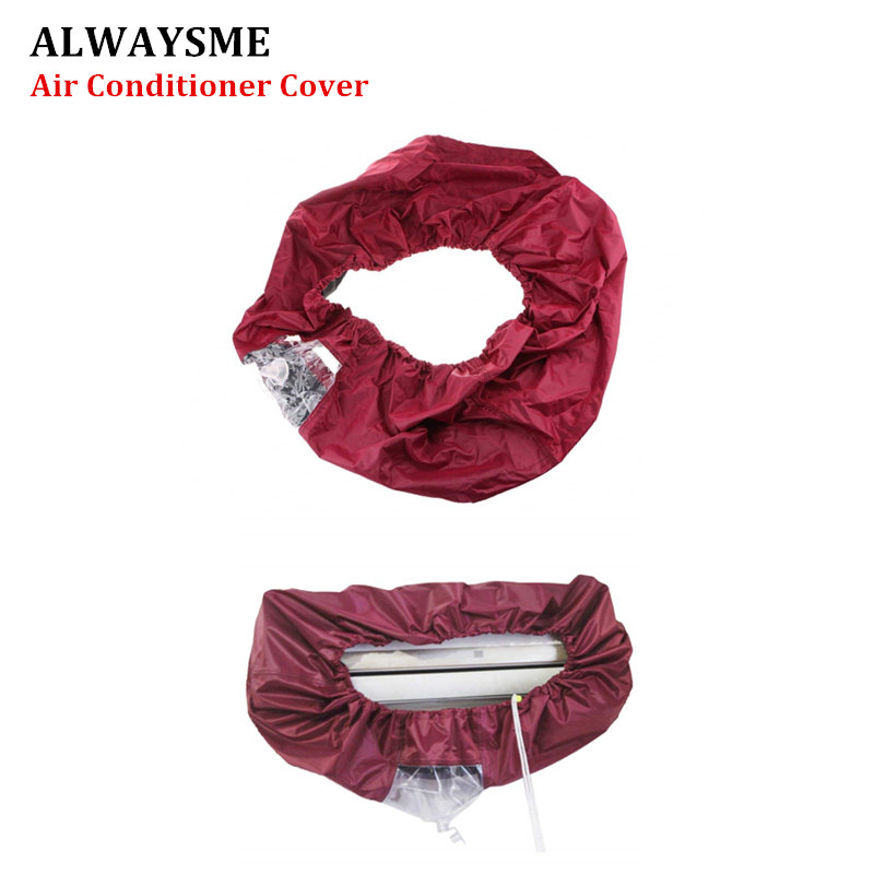 ALWAYSME Red Black Blue Color 1.5P 2P 10000-15000 BTU 7.8-10.5FT Air Conditioner Cleaning Dust Washing Cover Protector Case Bag