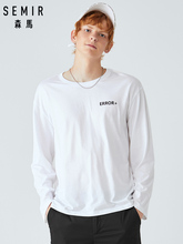 SEMIR T-shirt men long sleeve 2019 autumn new loose round neck print t shirt youth cotton bottoming clothes