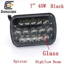 Eonstime 7X6″ 45W 15LED Car Light 12V/24V for 4WD 4×4 Offroad ATV Truck Tractor Driving Headlamp Headlights Lampshade Glass