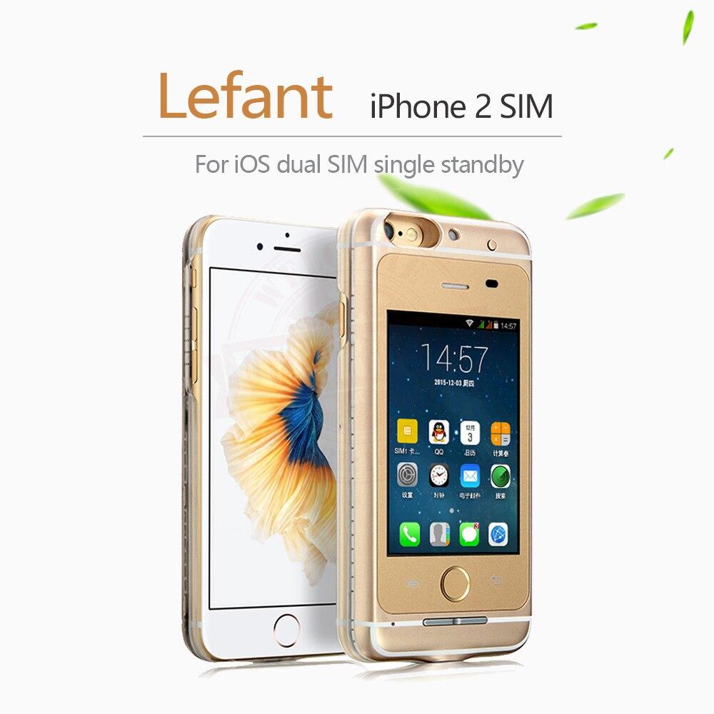 Aucun Jailbreak Dual SIM Double Veille Adaptateur Cas + SD carte étendre Max 32G Appel SMS Longue Attente Batterie pour iPhone 6 (s)/6 plus