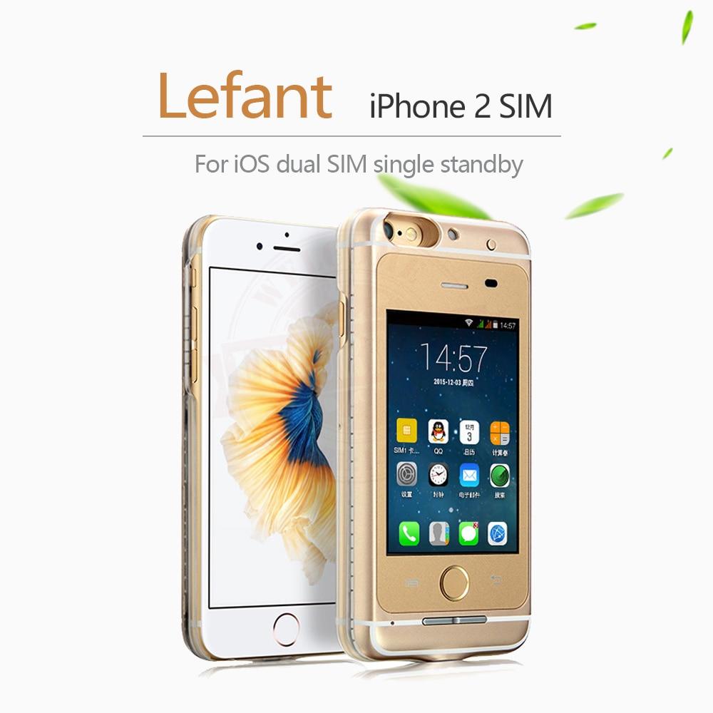 Pas de Jailbreak double SIM double adaptateur de veille cas + carte SD étendre Max 32G appel SMS longue batterie de veille pour iPhone 6 (s)/6 plus