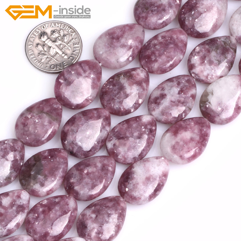 Natural Drop Purple Lepidolite Stone Beads For Jewelry Making 13X18mm 15inches DIY FreeShipping Wholesale Gem-inside 210pcs lot 10 14mm pear drop crystal fancy stone point back teardrop droplet glass stone for jewelry making diy accessory