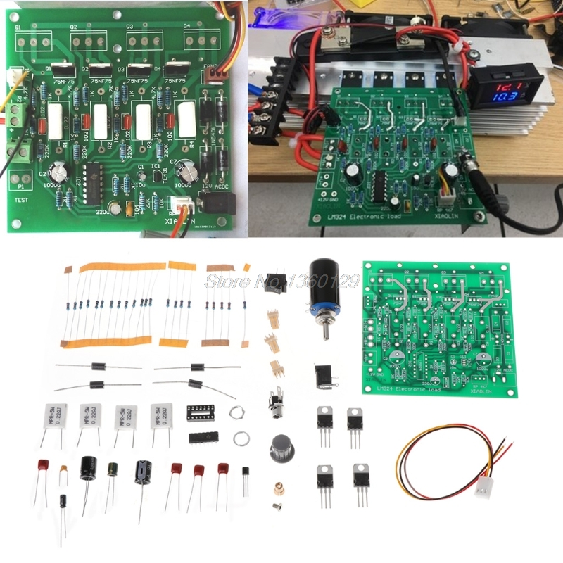 Diy kits 150 w 10a testador de capacidade da bateria ajustável constante atual teste de descarga de carga eletrônica