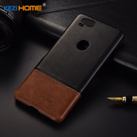 Kezihome For Google Pixel 2 Case Luxury Genuine Leather Pc Hard Phone Case For Google Pixel