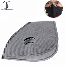 Anti Pollution PM 2.5 Smog Bike Mask Filter Activated Carbon Filters for Cycling Winter Ski Masks 6 Layer Air Cleaner Valve