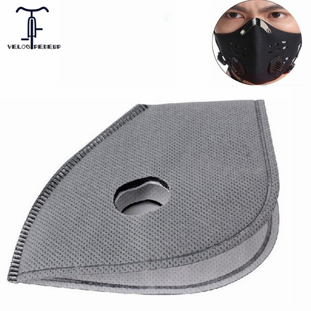 Anti Pollution PM 2.5 Smog Bike Mask Filter Activated Carbon Filters for Cycling Winter Ski Bike Masks 6 Layer Air Cleaner Valve