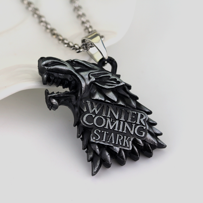 Vægt 40g Game of Thrones Stark Familie Goshawk Head Badge Wolf Chain - Mode smykker - Foto 4