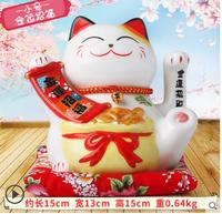 A Gold Color Gems M Lucky Cat Japanese Ship Opened Home Furnishing Lucky Cat Ceramic Piggy
