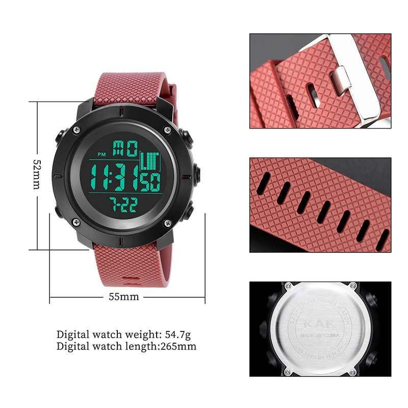 Спортивные часы для мужчин Шагомер Калорий Цифровые часы для женщин альтиметр барометр компасы термометр погода reloj hombre