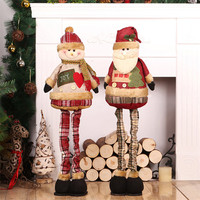 Chirstmas Retractable Dolls Big Sizes Santa Claus Snowman Toys Christmas Tree Decoration Christmas Decoration for Home Natal