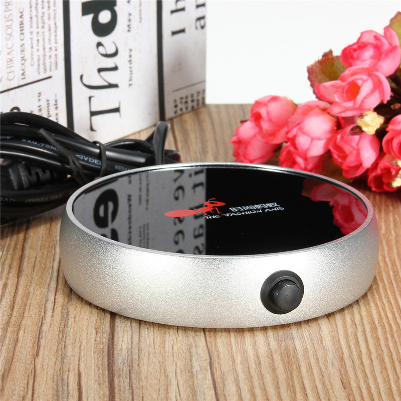Image 5 - Electric Heating Coasters Water Heater Portable Desktop Coffee Milk Tea Warmer Heater Cup Mug Warming Trays 5 Colors Home Office-in Electric Heaters from Home Appliances