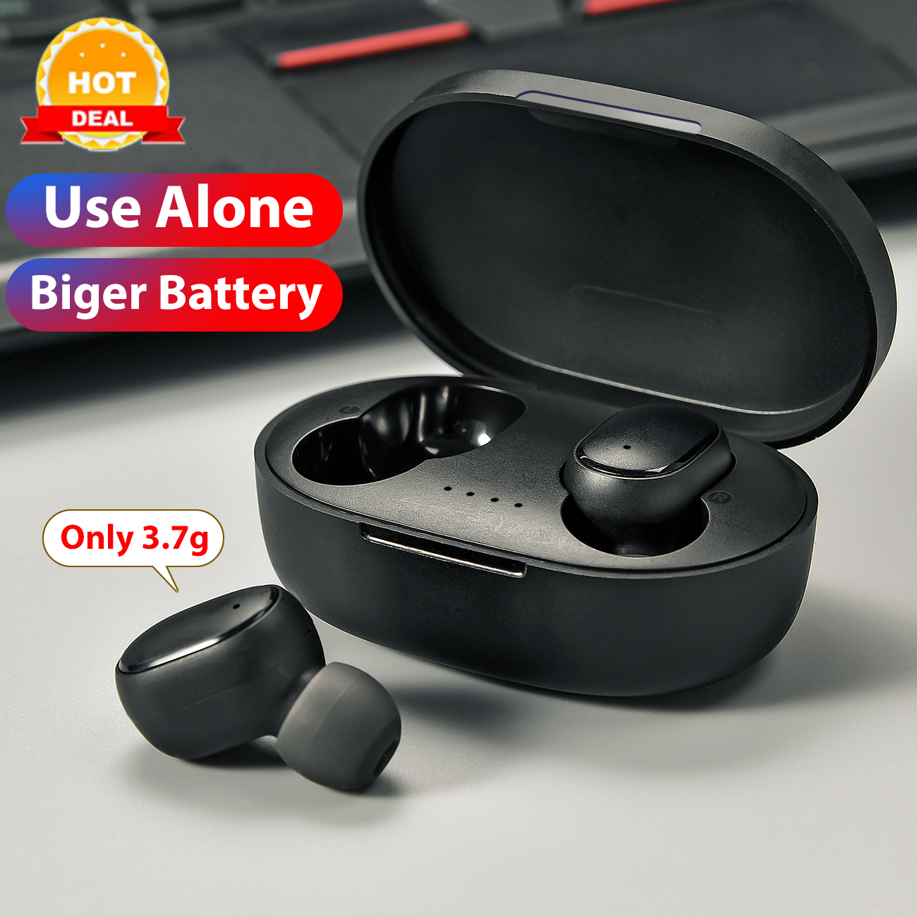 In-ohr Wahre Wireless Stereo Ohrhörer PK Redmi Airdots Drahtlose Kopfhörer Voice control Bluetooth 5,0 Bass Headsets Noise reduktion