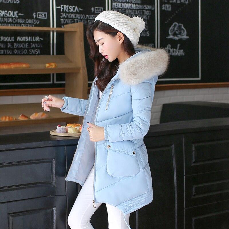 Women s Down Jacket 2017 Winter Jacket Women Female Coat Ladie Large Fur Collar Warm Long